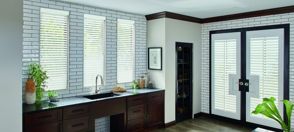 Wood Blinds shown in kitchen